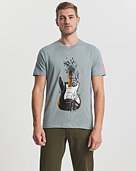 Joe Browns Grey Broken Guitar T-Shirt Long