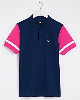 Voi Navy/Pink Distress Polo Long