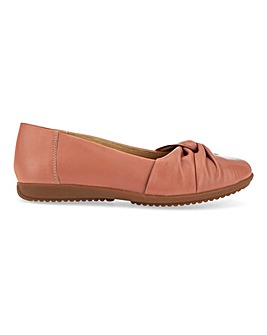 Leather Twist Vamp Ballerinas Wide E Fit