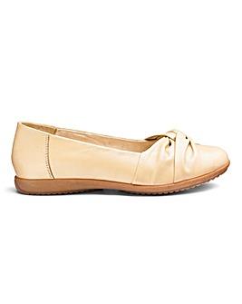 Leather Twist Front Ballerinas EEE Fit
