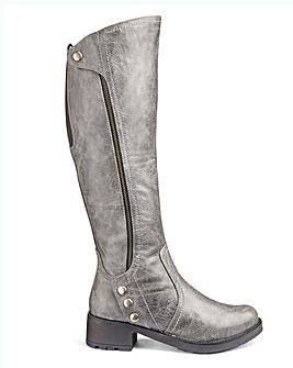 Heavenly Soles Boots EEE Fit Curvy Plus