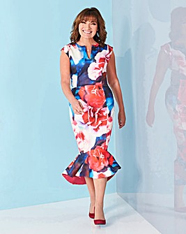 Lorraine Kelly Peplum Scuba Dress