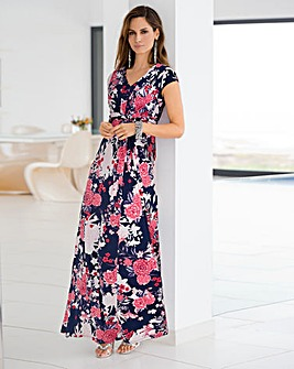 Together Maxi Dress With Pleats