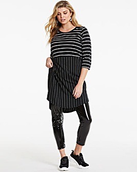 Junarose Cotton Blend Stripe Dress