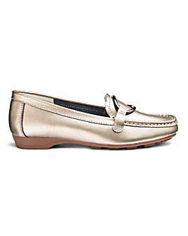 MULTIfit Leather Slip On Loafers Wide E/EE Fit