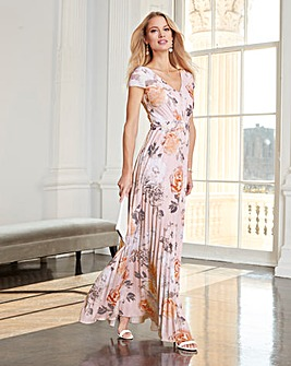 Together Jersey Pleated Maxi Dress
