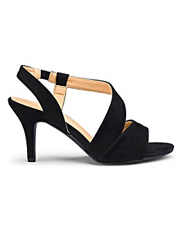 Asymmetric Slingback Sandals E Fit