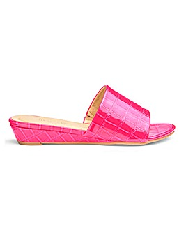 Low Wedge Mule Sandals Extra Wide EEE Fit
