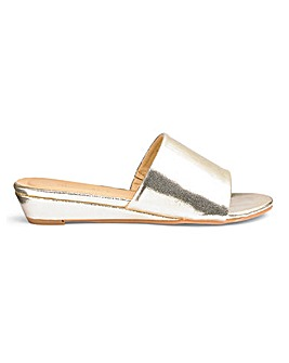 Low Wedge Mule Sandals Wide E Fit