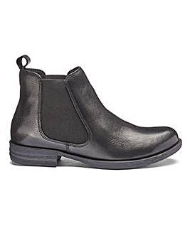 Leather Chelsea Ankle Boots EEE Fit