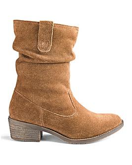 Heavenly Soles Suede Boots EEE Fit