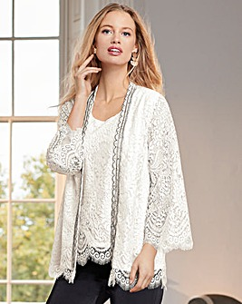 Together Lace Bead Trim Jacket