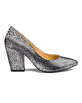 Snake Print Court Shoes E Fit