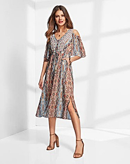 Together Cold Shoulder Summer Dress