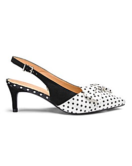 Joanna Hope Slingback Bow Shoes E Fit
