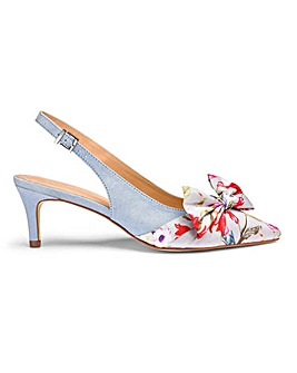 Joanna Hope Bow Detail Slingback Court Shoes Wide E Fit
