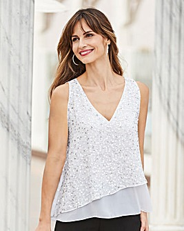 Together Beaded Double Layer Top