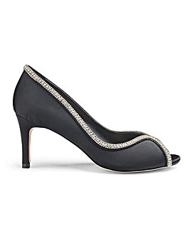 Joanna Hope Peep Toe Shoes with Diamante Trim Wide E Fit