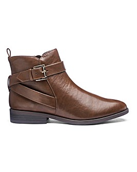 Strap And Buckle Ankle Boots EEE Fit