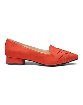 Pointed Toe Slip On Shoes Wide E Fit