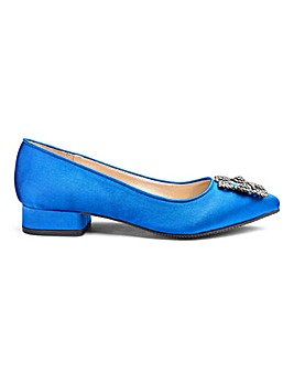 Satin Diamante Trim Shoes E Fit