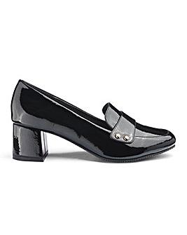 Stud Detail Block Heel Loafers EEE Fit