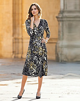 Together Print Wrap Dress