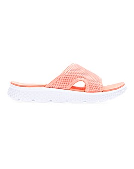 Cushion Walk Open Toe Leisure Slider Mules Wide E Fit