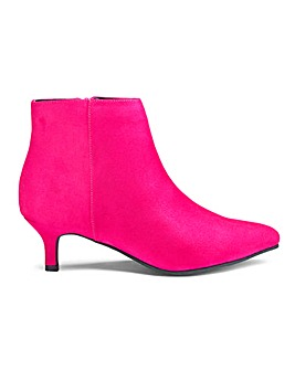 Flexi Sole Kitten Heel Ankle Boots E Fit