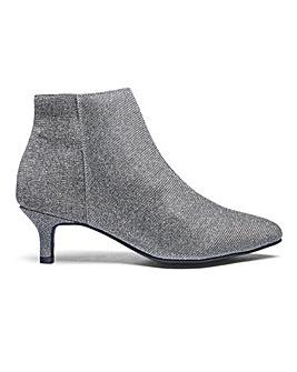 Flexi Sole Kitten Heel Ankle Boots Extra Wide EEE Fit