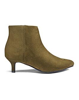 Flexi Sole Kitten Heel Ankle Boots E Fit