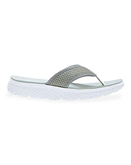 Cushion Walk Toe Post Leisure Slide Mules Extra Wide EEE Fit