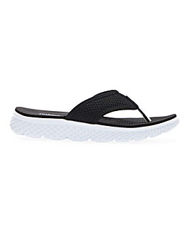 Cushion Walk Toe Post Leisure Slide Mules Wide E Fit