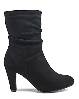 Flexi Sole Ruched Mid Boots E Fit