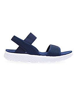 Cushion Walk Lightweight Elastic Strap Leisure Sandals Extra Wide EEE Fit
