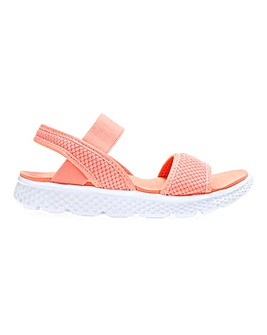 Cushion Walk Lightweight Elastic Strap Leisure Sandals Wide E Fit