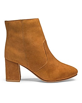 Heavenly Soles Leather Ankle Boots Extra Wide EEE Fit