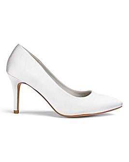 Ivory Satin Court Shoes E Fit