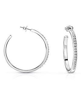 Guess Colours Crystal Hoop Earrings