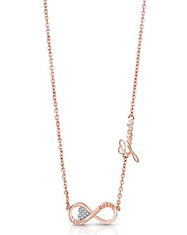 Guess Endless Love Infinity Necklace