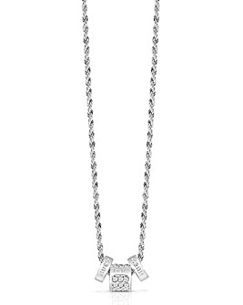 Guess Colours Rondel Necklace - Rhodium