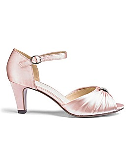 Satin Ankle Strap Occasion Shoes Wide E Fit