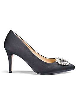 Jewel Trim Occasion Court Shoes Wide E Fit