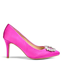 Jewel Trim Occasion Court Shoes Extra Wide EEE Fit