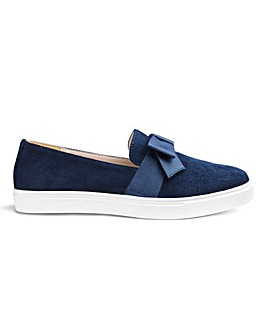 Slip On Bow Detail Leisure Shoes Wide E Fit