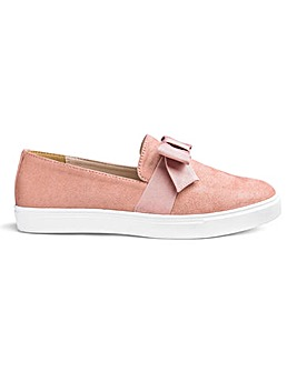Heavenly Soles Bow Leisure Shoes EEE Fit