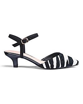 Kitten Heel Slingback Shoes E Fit