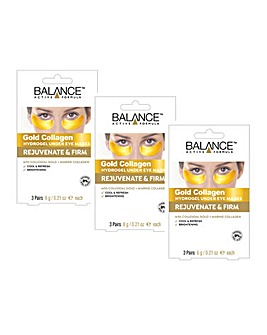 Balance Gold Collagen Under Eye Masks - 3 Packs