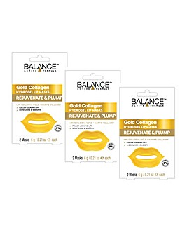 Balance Gold Collagen Hydrogel Lip Masks