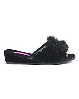 Dunlop Wedge Peep Toe Slippers E Fit